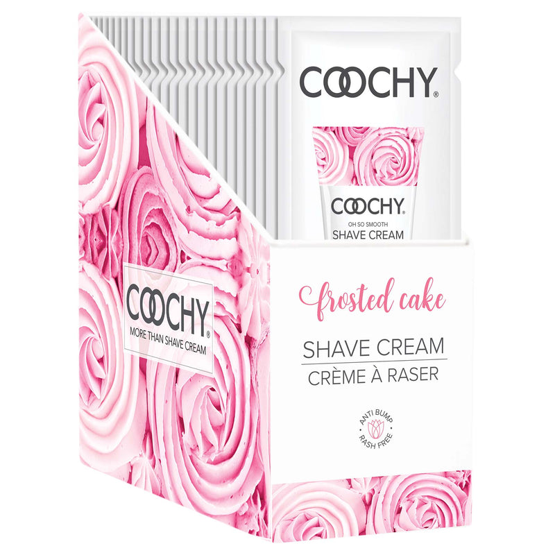 Coochy Shave Cream - Frosted Cake - 15 ml Foils 24 Count Display COO1003-99D