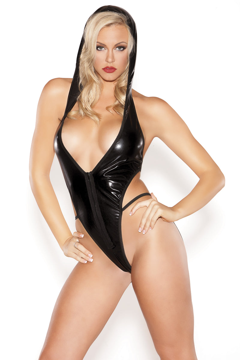 Hooded Temptress Teddy - One Size ALR-4-9702K