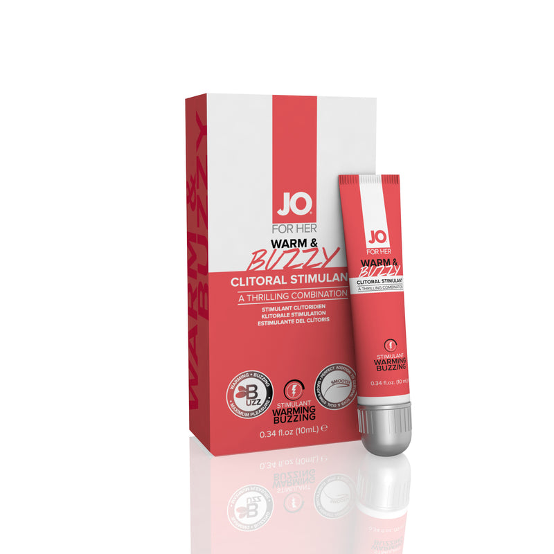 Jo for Her Warm & Buzzy Clitoral Stimulant - 0.34 Fl. Oz. / 10ml JO41216