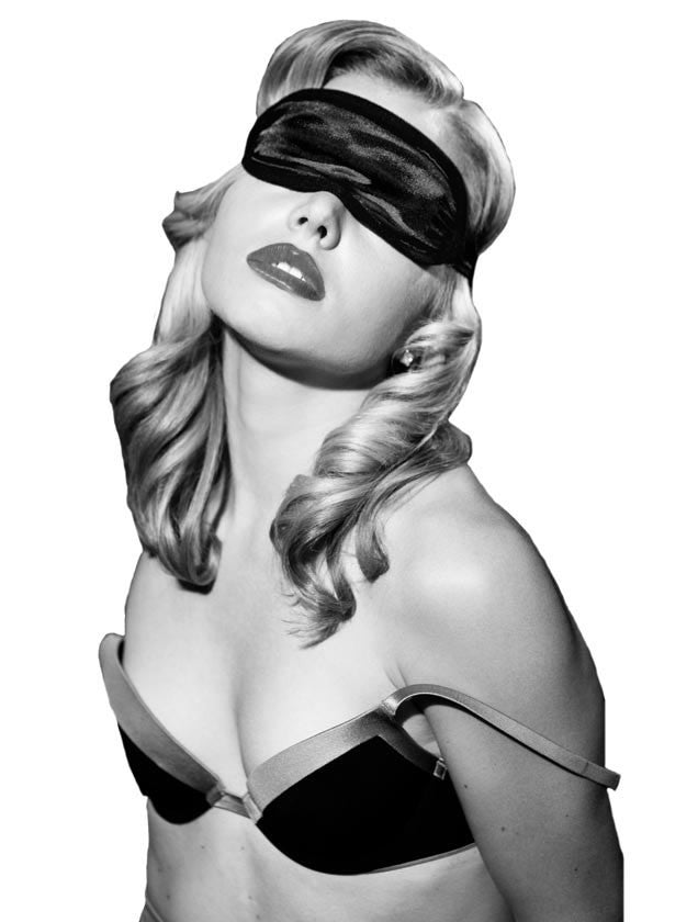 Satin Black Blindfold
