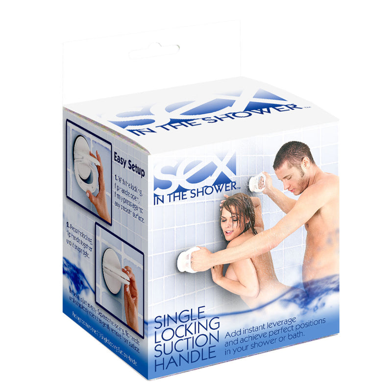 Sex In The Shower Single Locking Suction Handle White