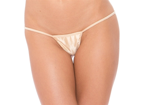 Micro Low Back Tee Thong - Nude - One Size BS112NNDE