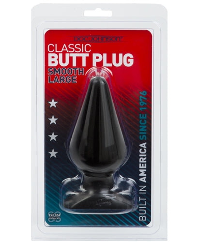 Classic Butt Plug - Smooth - Large - Black DJ0244-06