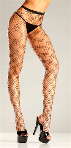 Diamond Net Pantyhose - One Size BW-664B