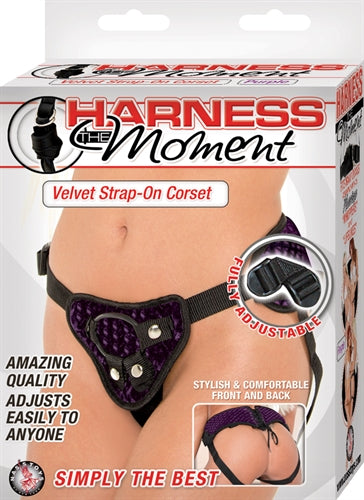 Harness the Moment Velvet Strap-on Corset - Purple NW2441-2