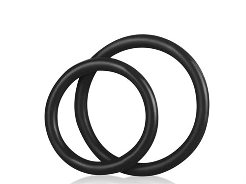 Silicone Cock Ring Set - Black BLM4005-BLK