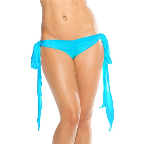 Ribbon Tie Shorts - Turquoise - One Size BS206TRQ