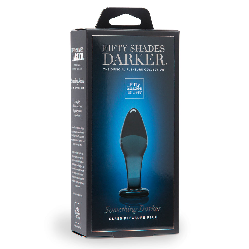 Fifty Shades Darker Something Darker Glass Butt  Plug LHR-64502