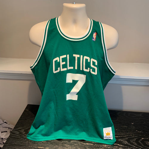 VTG Dee Brown Boston Celtics Sand Knit Jersey L/XL