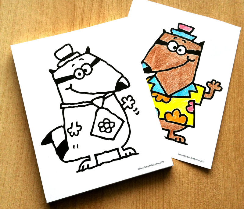 Coloring Note Pad RACCOONS!