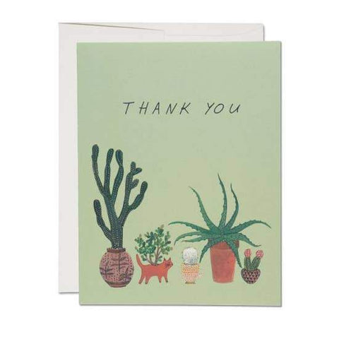 Thank You Card - Cactus and Succulents