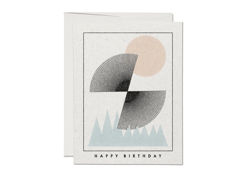 Sun Over Mountains - Birthday Card