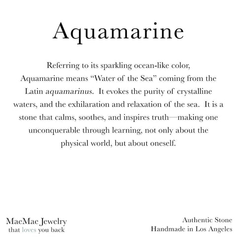 Informational 3.3 x 3.3 card for Aquamarine