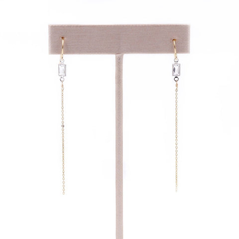 Swarovski Crystal Baguette Earrings