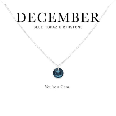 You're A Gem - Swarovski Crystal Pendant Birthstone Necklace