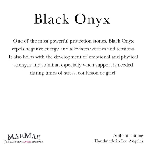 Informational 3.3 x 3.3 card for Black Onyx