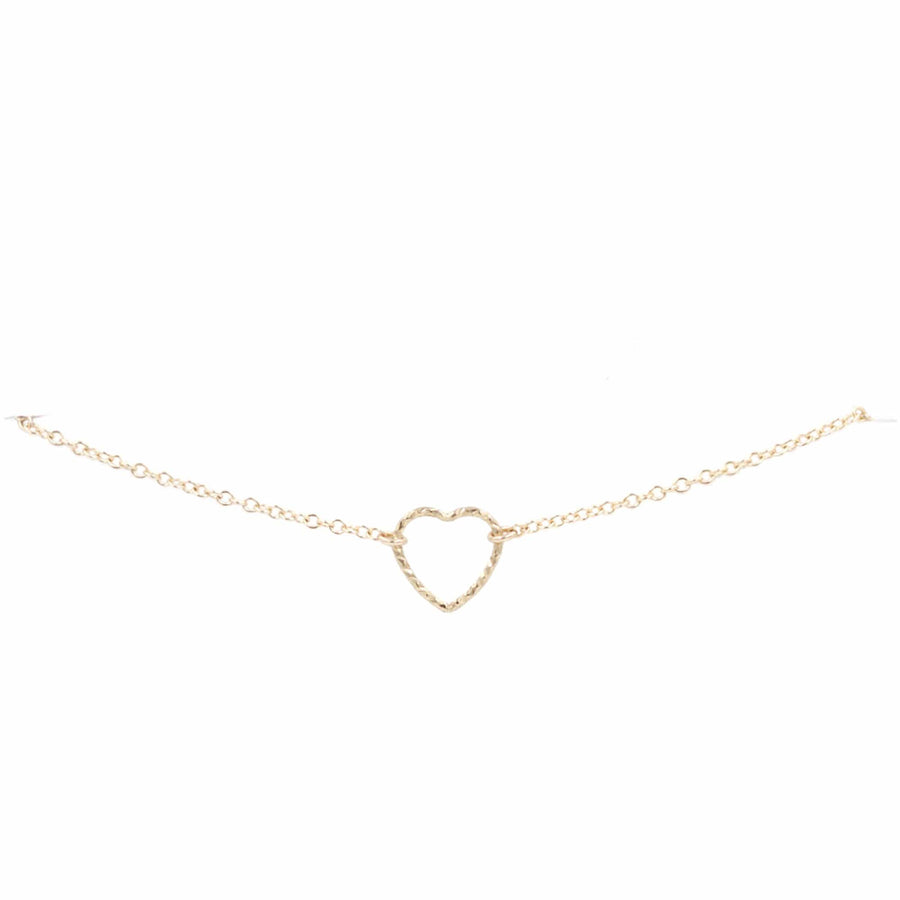 Bridal Gold Open Heart Bracelet