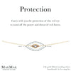 Protection evil eye bracelet 14k gold filled evil eye bracelet by MaeMae Jewelry