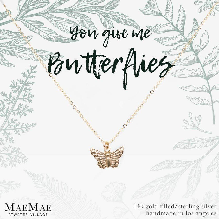 You Give Me Butterflies Necklace