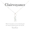 Clear Swarovski Baguette Crystal Pendant on sterling silver flat cable chain necklace on positive affirmation card - MaeMae Jewelry