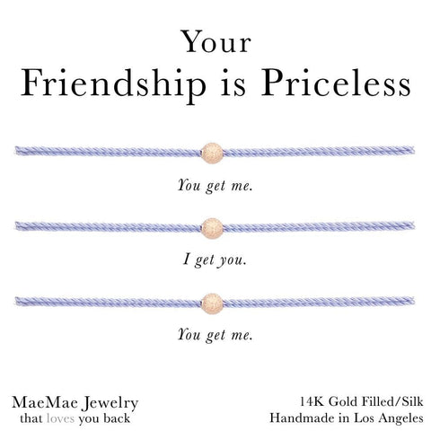 Your Friendship is Priceless 3-set friendship bracelets by MaeMae Jewelry