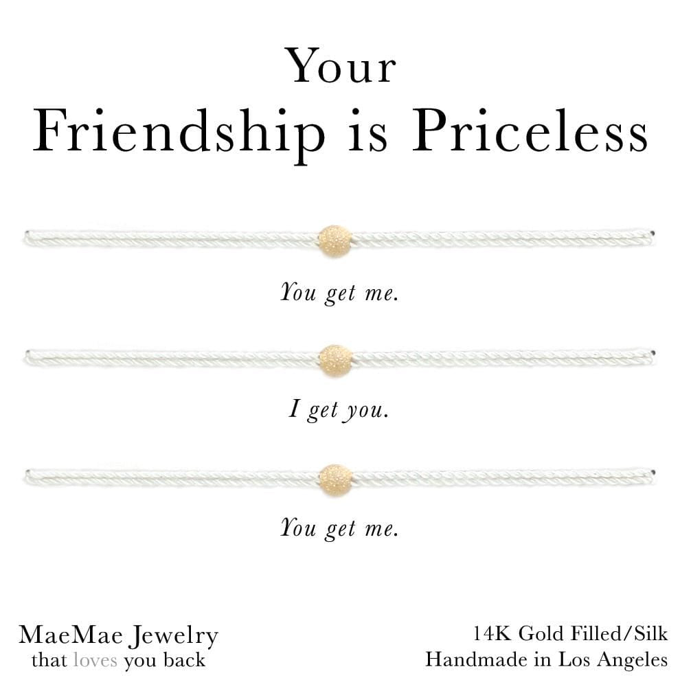 Your Friendship Is Priceless 3-Set Bracelet (Limited Edition)