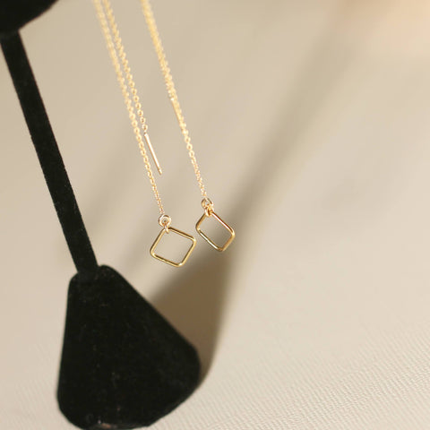 Geometric Threader Earrings