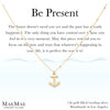14k gold filled cable chain necklace with small and dainty gold anchor on illustrated affirmation card - MaeMae Jewelry