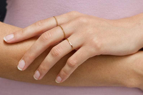 Hammered Band Stacking Ring