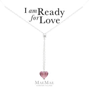 I Am Ready For Love Lariat Necklace