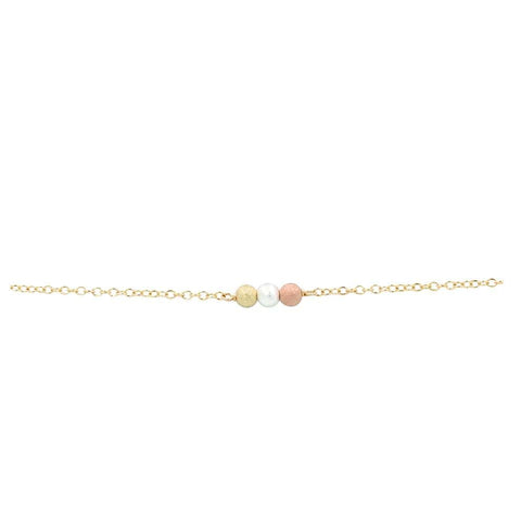 Bridesmaid Tri-Tone Stardust Beads Bracelet