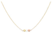 "Just Breathe Necklace Necklace MaeMae Jewelry 14k Gold Filled Chain 16"" - 18"" Standard"