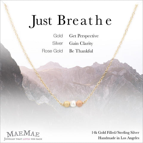 Just Breathe Necklace Necklace MaeMae Jewelry