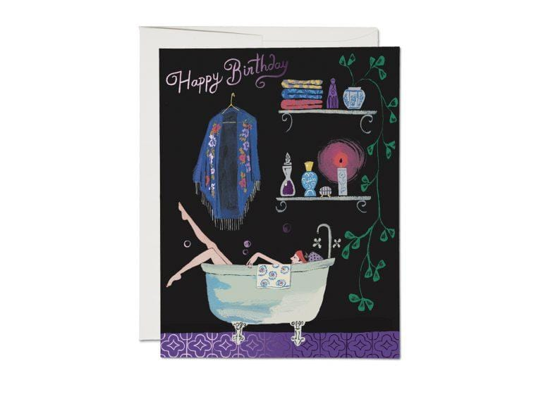 Bathtub Bubbles Birthday Card