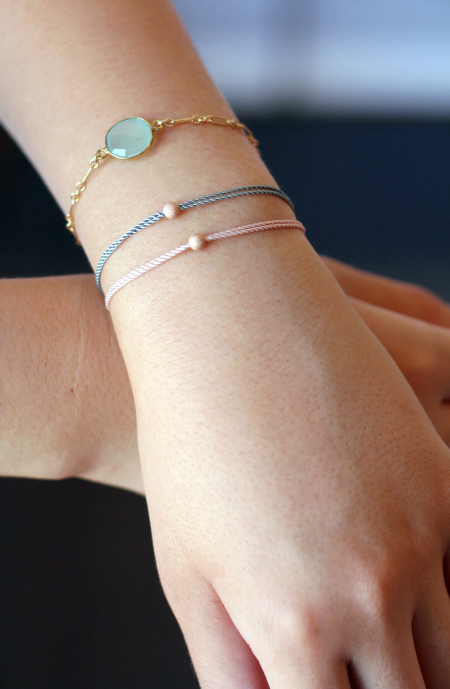 nylon silk bracelets rose gold gold filled sterling silver friendship bracelets | MAE MAE JEWELRY