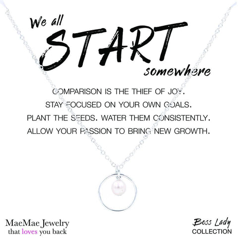 We All Start Somewhere - Boss Lady Necklace