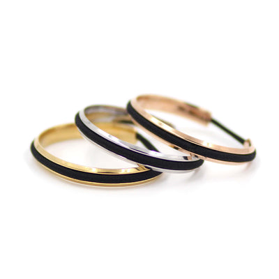 Multi-colored stainless steel hair tie cuffs/bangles - MaeMae Jewelry