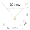 14k Gold Filled Cubic Zirconia Flower Drop Necklace on Mom Card - MaeMae Jewelry