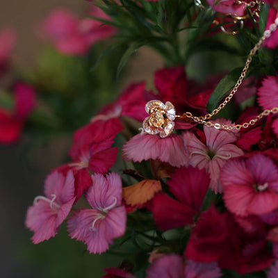 Mom Flower Drop Necklace