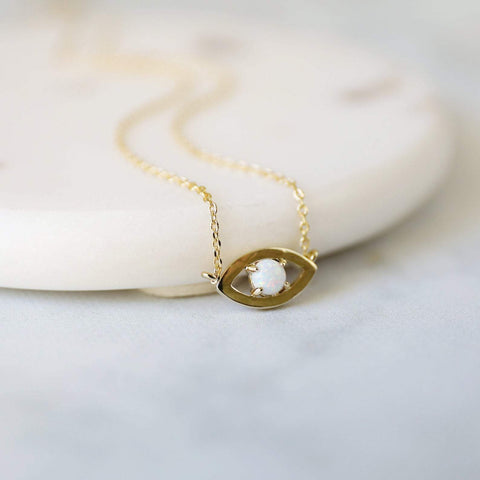 Evil Eye Protection Necklace  - Opal (Limited Edition)