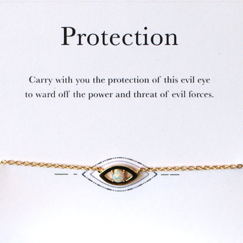 "Opal ""Evil Eye"" Protection Bracelet (Limited Edition)"