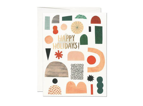 Happy Holidays (Xmas Shapes) Card