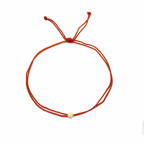 Your Friendship is Priceless 3-set friendship bracelets by MaeMae Jewelry | Red with 14k gold filled adjustable  bracelet