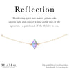 Reflection Bracelet | Prism Swarovski Crystal | Affirmation Jewelry | 14k Gold Filled and Sterling Silver Bracelet
