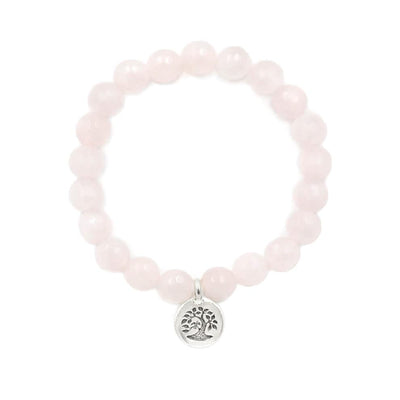 Rose Quartz Stone Stretch Bracelet