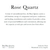 Informational 3.3 x 3.3 card for Rose Quartz