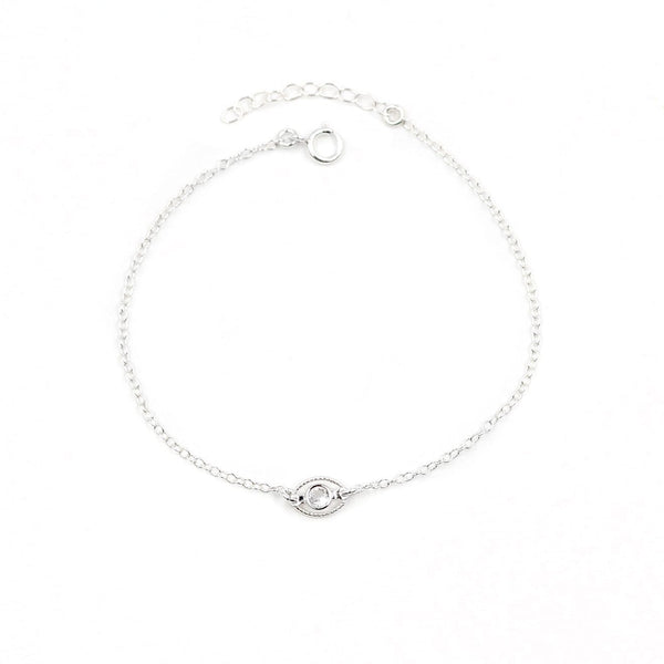 Evil Eye Protection Silver Bracelet