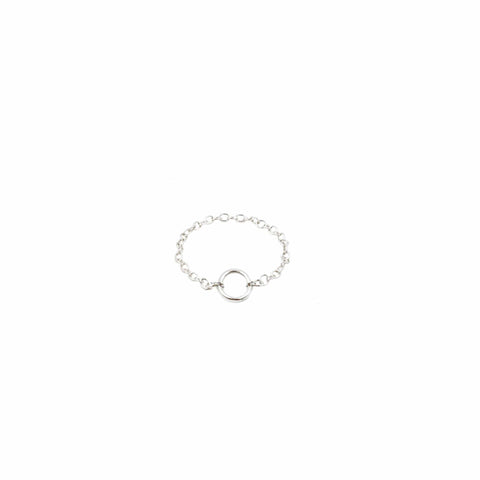 Sterling Silver open circle charm ring - MaeMae Jewelry