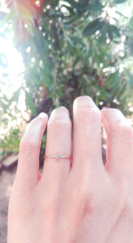 CZ Solitaire Sparkle Stacking Ring