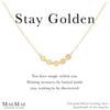 14k Gold Filled Necklace | Stay Golden Necklace |